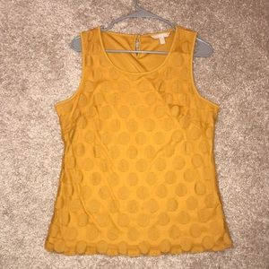 Banana Republic Mustard Color Tank Top